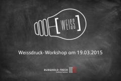 Es ist wieder soweit! Unser erster Workshop 2015.